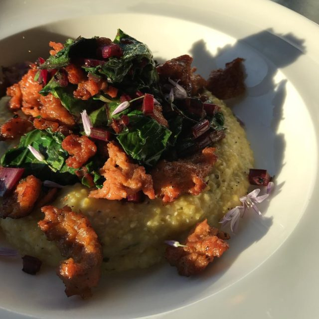 locavore complete! Creamy Farmer Ground Polenta with Seared Autumns Harvesthellip